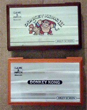2 x Nintendo Multi Screen Game & Watch (Donkey Kong & Donkey Kong Jr)