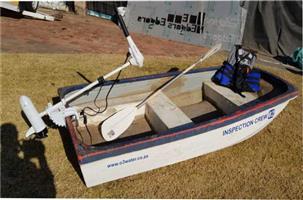 2,6m fishing boat incl electric motor