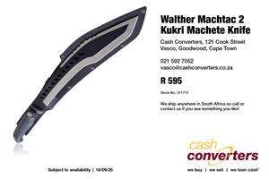 Walther Machtac 2 Kukri Machete Knife