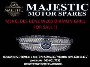 MERCEDES BENZ W205 DIAMOND GRILL