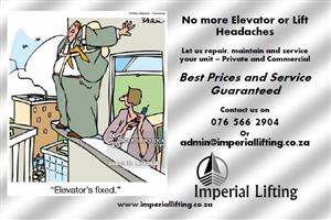 Elevator and Lift Repairs and Maintenance