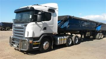 CALL (34 TON)SIDE TIPPER TRUCKS FOR HIRE/RENT