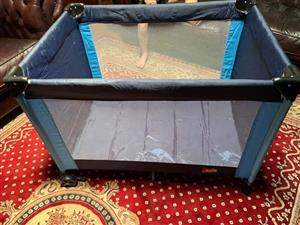 Blue camp cot for sale