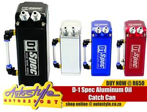 D-1 Spec Aluminium Oil Catch Can ASSORTED COLOURS