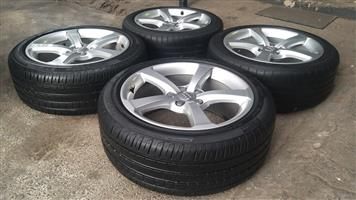 17 Inch OEM Audi 2015 A3 5 Spoke rims with tyres