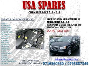 CHRYSLER VOYAGER MK3 2.8, 3.8 ENGINES FOR SALE