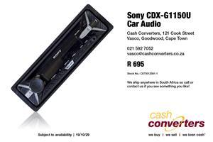 Sony CDX-G1150U Car Audio