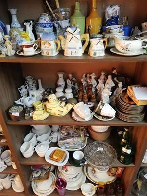 Various crockery and glassware