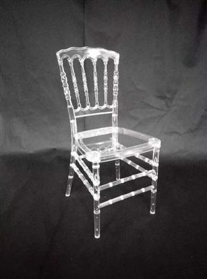 See through high back chair