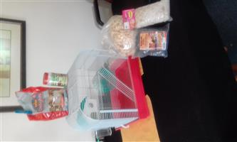Hamster cage complete with accesories