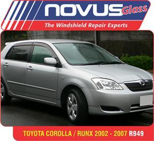 Wind Screen , Windscreen Toyota Corolla/ RunX 2002-2007 from R949.00