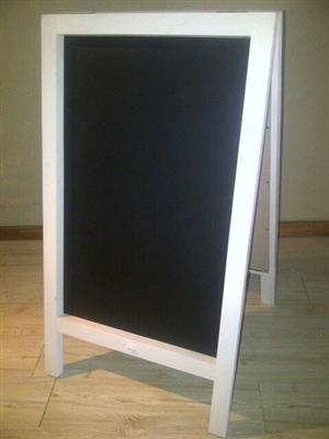 CHALKBOARDS - BLACKBOARDS: A-frame double sided.