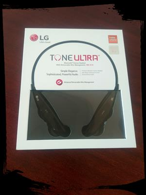 ::: FOR SALE ::: LG Tone Ultra Bluetooth Stereo Headset With Retractable Wire Management (Model HBS-810)