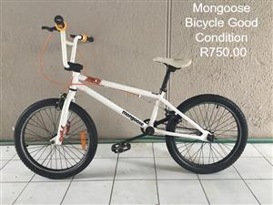White mongoose kiddies bike for sale