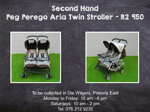 Second Hand Peg Perego Aria Twin Stroller