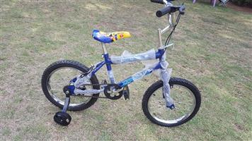 Dark blue and black kiddies bicycle for sale