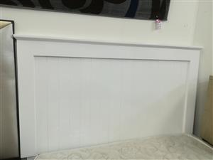 New white wooden headboard