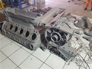 Deutz V10 Engine Stripping for Spares