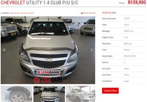 2016 Chevrolet Corsa Utility 1.4 Club