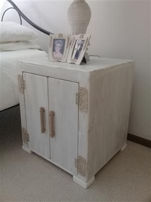 (RS 191) Sandra Bedside Table.  Dimensions L500 x W500 x H650 mm. Price R2 825