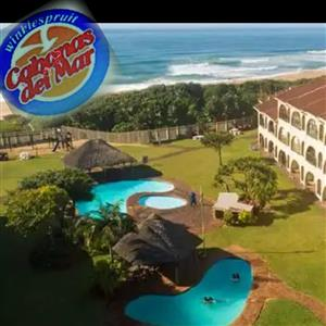 STUNNING 2 BED SELF-CATERING, JULY 12 TO 14, WINKELSPRUIT, AMANZIMTOTI, RIGHT ON THE BEACH, 24 HR SEC