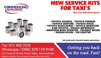 Service Kits For Most Taxi Make and Models For Sale.