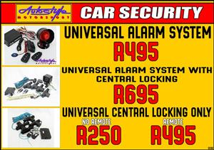 Alarm security system universal
