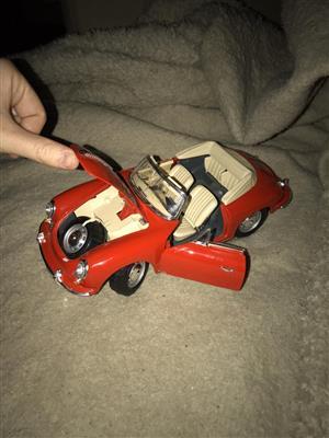 Toy Porsche convertible car