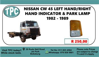 Nissan CW 45 Left Hand/Right Hand Indicator Park Lamp 1982 - 1989 - For Sale at TPC.
