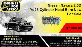 Nissan Navara 2.5D Yd25 Cylinder Head Bare New For Sale.