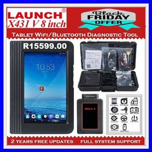 New Released Launch X431 V 8inch Tablet Wifi/Bluetooth Full System Diagnostic Tool with 2 years Free Update Online BLACK FRIDAY SPECIAL ONLY: R 15599