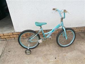 Blue kiddies bicycle for sale