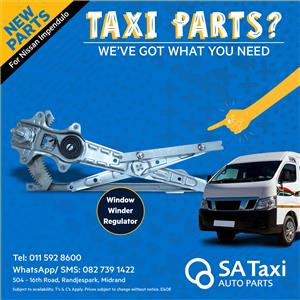 NEW Window Winder Regulator for Nissan NV350 Impendulo - SA Taxi Auto Parts quality spares