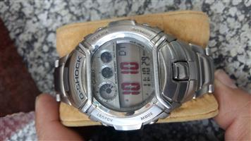 Casio g-shock mens watch  grey face metal strap