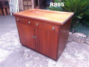 Teak Cabinet with 2 Drawers (1010x610x795)