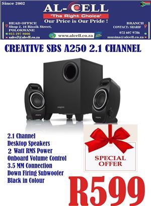 Creative SBS A250 2.1 Channel Speaker