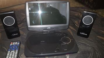 """9"""" jvc portable DVD player"""