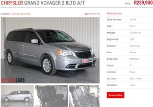 2014 Chrysler Voyager 2.4 SE