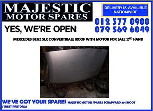 Mercedes benz slk roof with motor used for sale