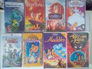 Kids Classic Movies on Video Cassette.  R30 each. I am in Orange Grove.