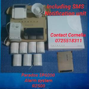 Paradox SP6000 Alarm system including sms notification