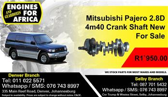 Mitsubishi Pajero 2.8D 4m40 Crank Shaft New For Sale