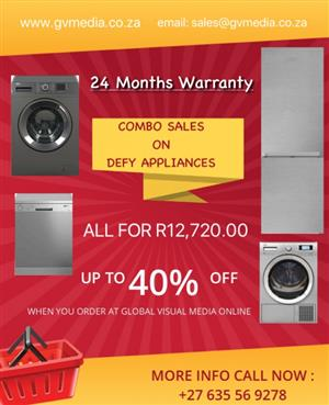 combo sales on brand new defy appliances
