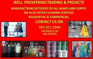 WELL PROSPECTING CLEANING SERVICES AND DETERGENT MANUFACTURE