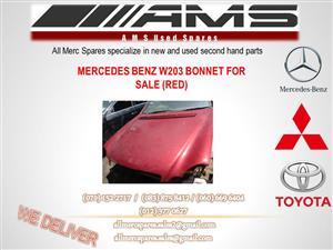 MERCEDES BENZ W203 RED BONNET FOR SALE