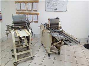 Biscuit wire cutter machine for sale.