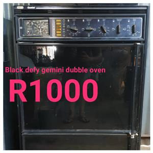 BLACK DEFY GEMINI DOUBLE OVEN
