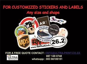 Custom/personalized stickers and labels