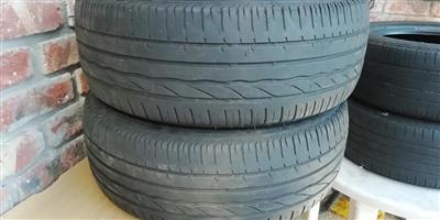 Bridgestone runflats tyres 2x205/55/R16