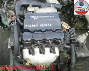 Imported used DAEWOO PRINCE/ROYALE/SUPER SALOON 2.0L 8V, C20NED, Complete second hand used engines